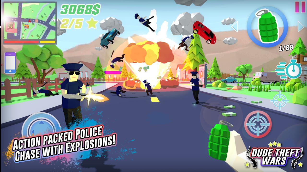 Dude Theft Wars: Open World Sandbox Simulator BETA screenshot 1