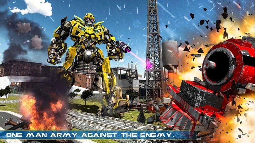 Futuristic Robot Transformation Train Game 1 0 3