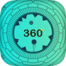 360 Degree Spikes Icon