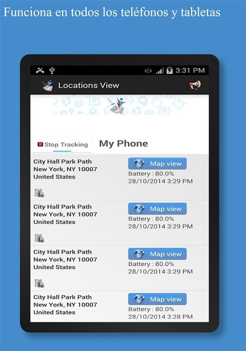 rastreador y localizador de celular via internet on line