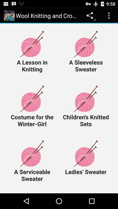 Wool Knitting & Crochet Guide screenshot 1