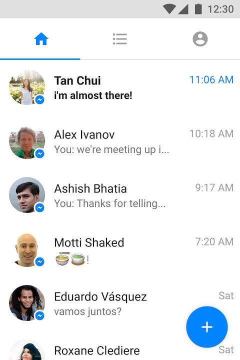Messenger Lite Chamadas e mensagens grátis screenshot 1