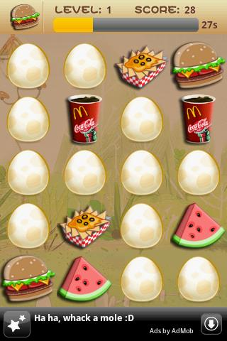 Memory Game For Kids-Fast Food screenshot 1