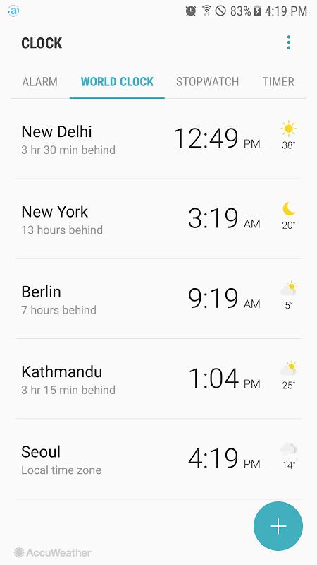 Samsung Clock screenshot 3
