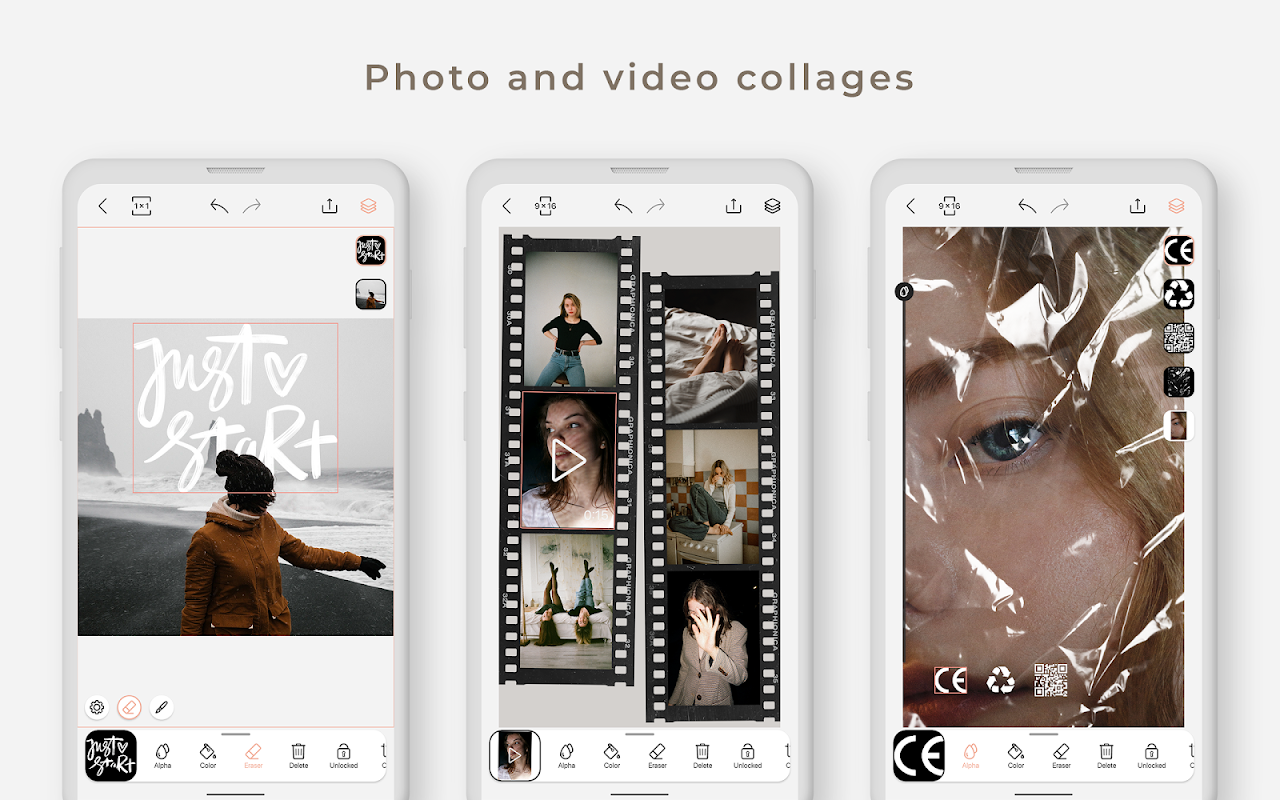 graphionica photo & video collages: sticker & text 2.8.9 download android  apk   aptoide