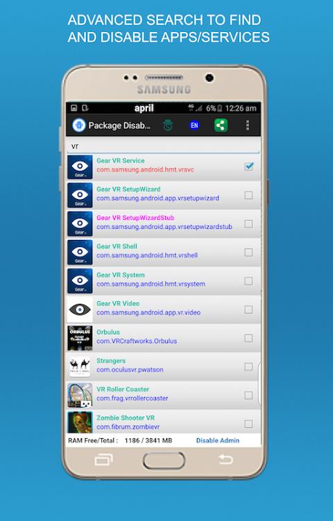 Package Disabler Pro + (Samsung) screenshot 2