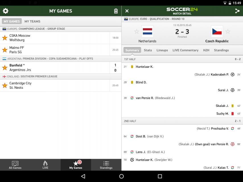 Soccer 24 soccer live scores download apk for android aptoide