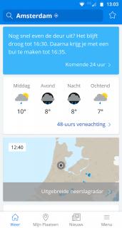 Weeronline: weer en regenradar screenshot 2