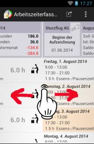 Arbeitszeiterfassung screenshot 2