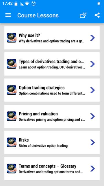 Option trading application