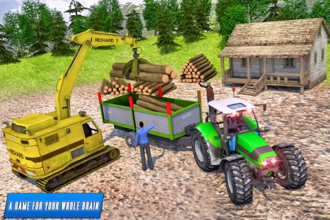 Heavy Tractor Trolley Driver Simulator: Free Games screenshot 6