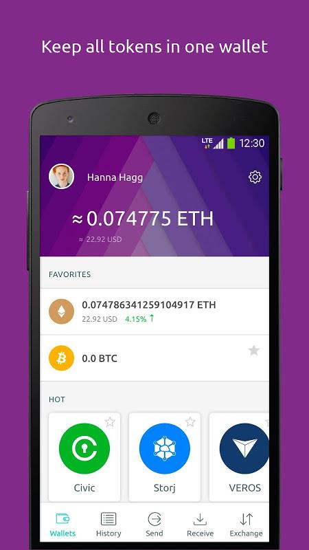 Freewallet: Ethereum Token Wallet screenshot 1