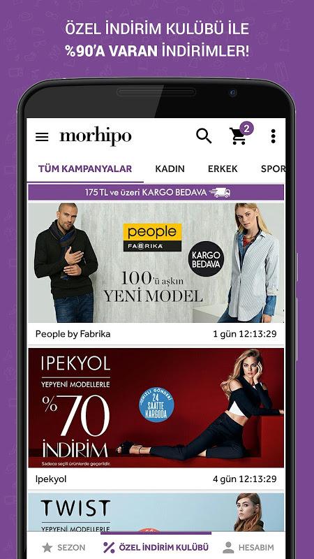 Morhipo screenshot 2