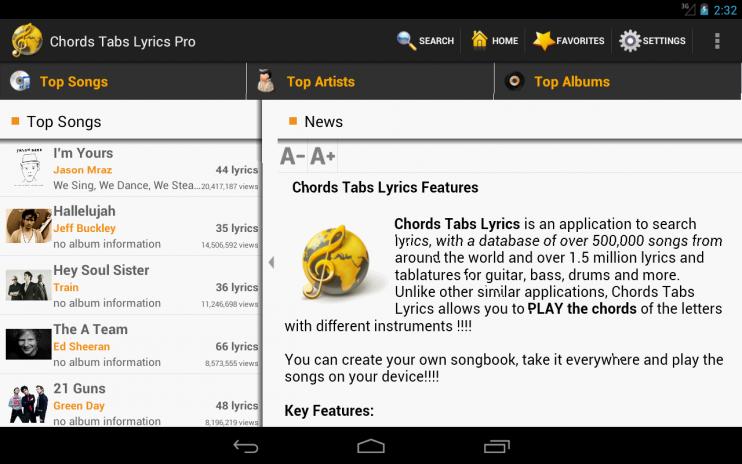 Chords Tabs Lyrics Light 1.1.20 Download APK for Android - Aptoide