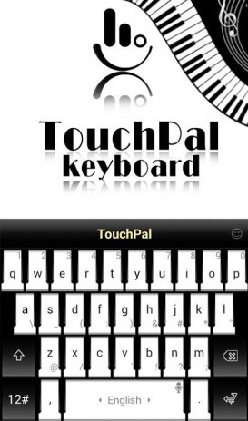 TouchPal SkinPack Black and White Piano 4 0 Download APK for Android