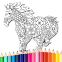 Coloring book Animals Mandala