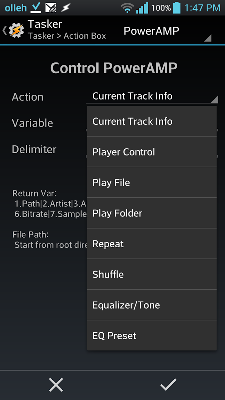 Action Box - Tasker Plug-in screenshot 1
