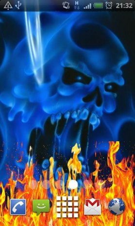 تحميل Apk لأندرويد آبتويد Blue Ghost Skull Fire5