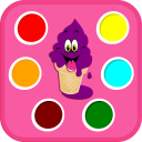 Learning Colors Ice Cream Shop - Color Name Games