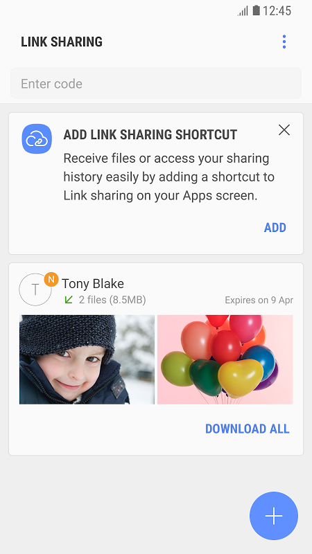 Link Sharing screenshot 2