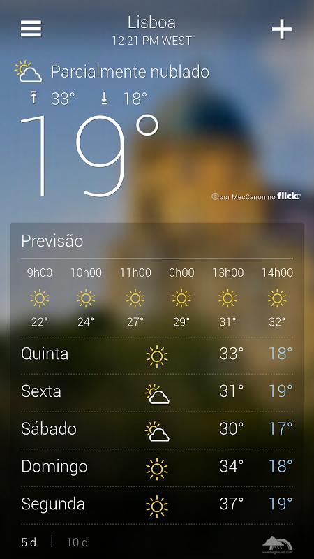 Tempo do Yahoo screenshot 2