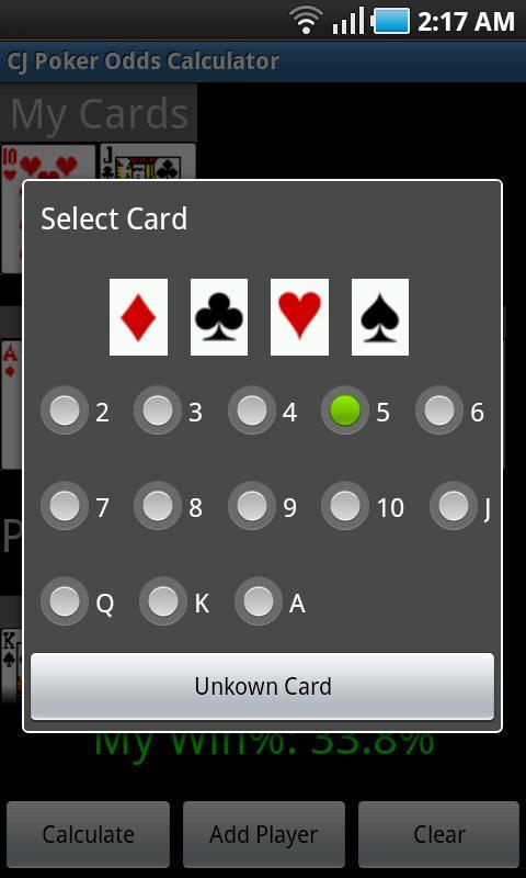 CJ Poker Odds Calculator screenshot 1