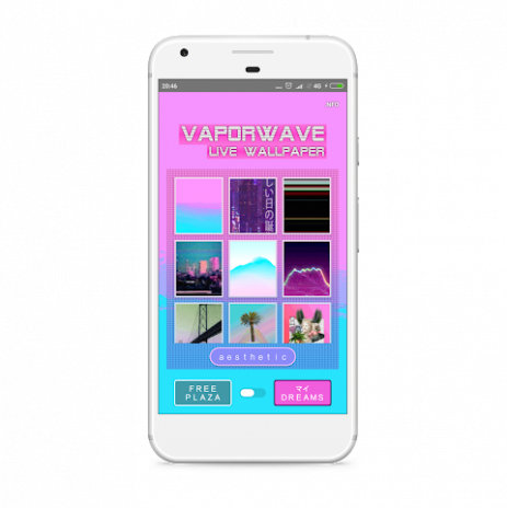 vaporwave live wallpaper screenshot 1 ...