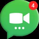 O aplicativo do Messenger em vídeo