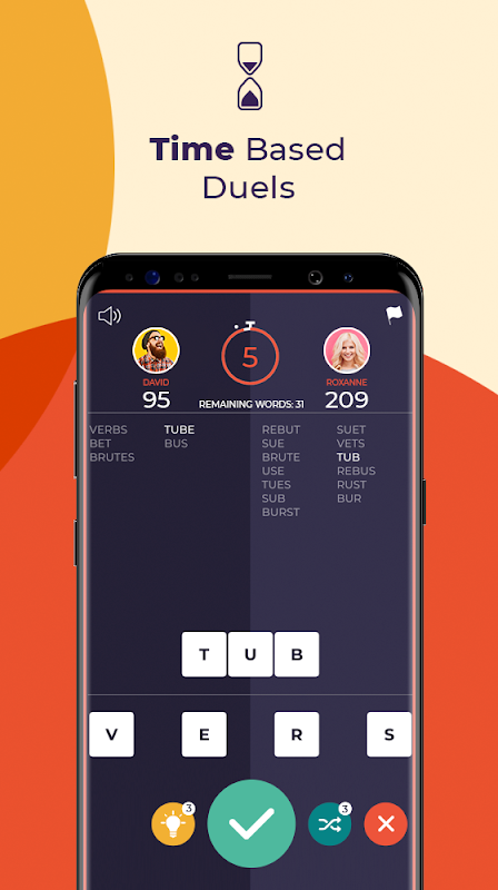 7 Letters - Multiplayer Word Puzzle Game screenshot 1