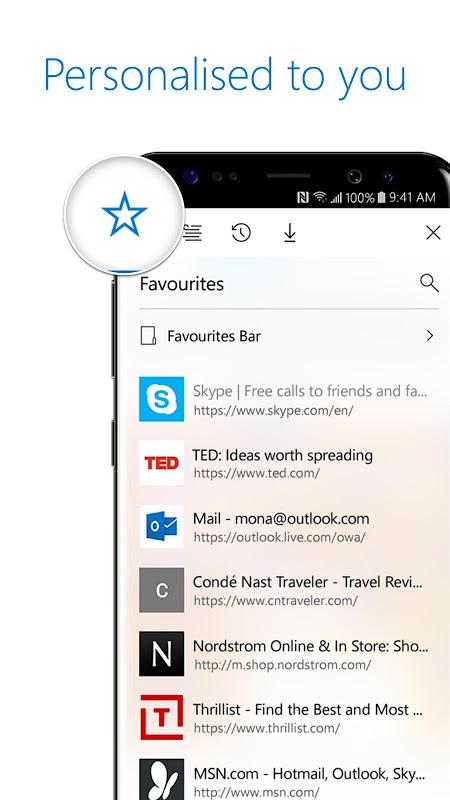 Microsoft Edge screenshot 1