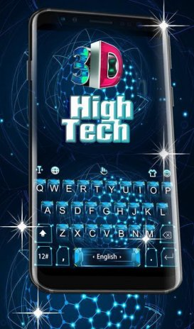 3d blue high tech keyboard theme 6 6 7 download apk for android