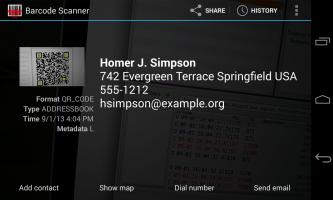 Barcode Scanner Screen