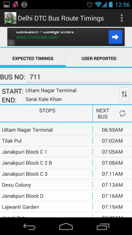 Delhi DTC Bus Timings & Routes 1 4 Download APK for Android