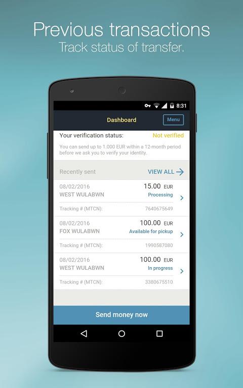 Western Union for Belgium, Luxembourg, Switzerland screenshot 4