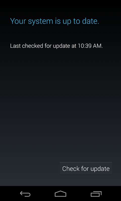 System Software Update screenshot 2