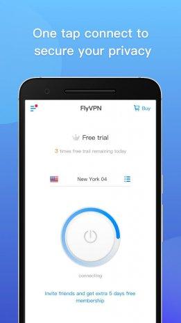 FlyVPN - Free VPN, Internet Privacy Security Proxy 4 7 0 0
