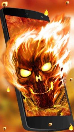 Fire Skull Live Wallpaper 1