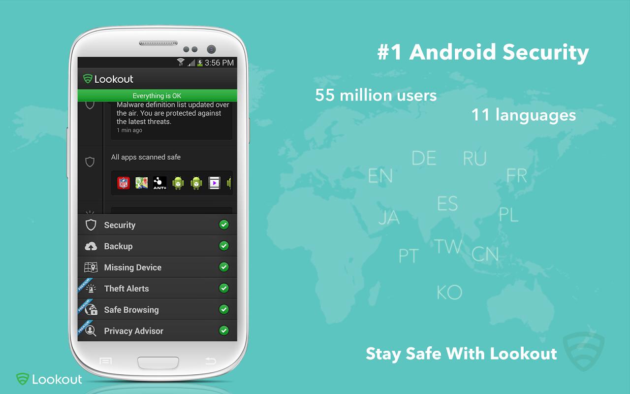 Lookout Mobile Security screenshot 1