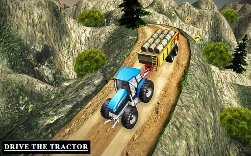 Heavy Tractor Trolley Driver Simulator Game screenshot 7