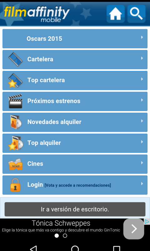 Filmaffinity app screenshot 1