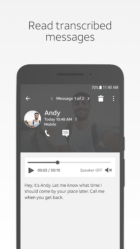 at&t visual voicemail apk