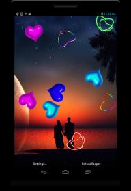 Neon Hearts live wallpaper screenshot 5