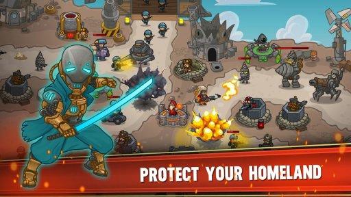 Steampunk Defense: Tower Defense screenshot 2