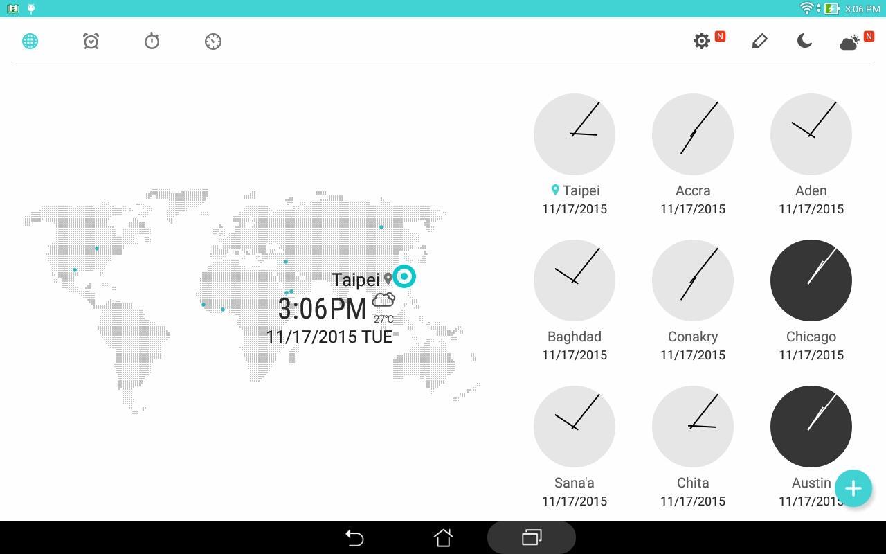 ASUS Digital Clock & Widget screenshot 1