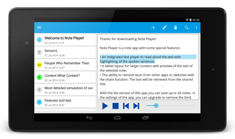 Note Text Player (Read aloud) 1 5 Download APK for Android