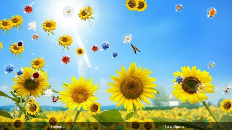 Flowers Live Wallpaper Screenshot 1 2