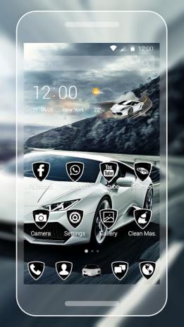 White Lamborghini Theme1 1 4 Tải Apk Danh Cho Android Aptoide