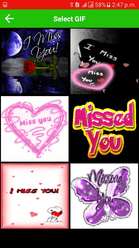 Miss You Gif screenshot 2