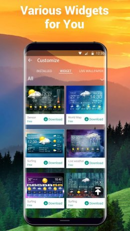 Home screen clock and weather 15 1 0 45733 Download APK for Android