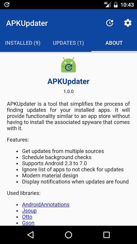 Apk Updater Apk installer screenshot 1